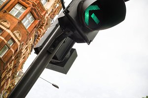 Traffic Lights in London city