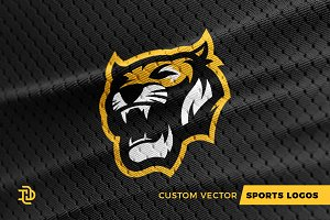 Tigers   Custom Sports Logo