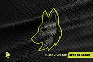 Dogs   Custom Sports Logo