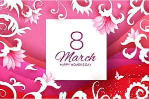 8 March Greetings card