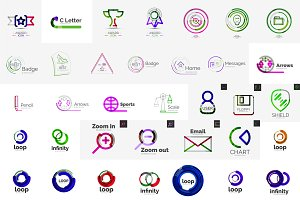 Big set of corporate logos