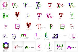 Mega collection of letter logos