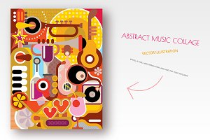 Abstract Music Collage