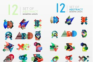 48 abstract geometric layouts