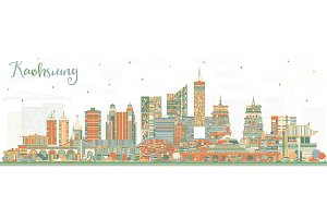 Kaohsiung Taiwan City Skyline