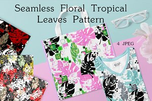 Seamless Tropical Leaves Patterns