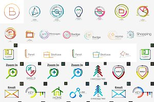 Trendy corporate logos collection