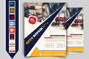 Car Auto Repair Service Flyer Vol-03