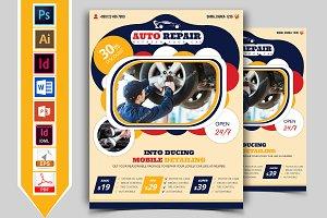 Car Auto Repair Service Flyer Vol-02