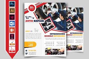Car Auto Repair Service Flyer Vol-01