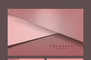Set of pink abstract background