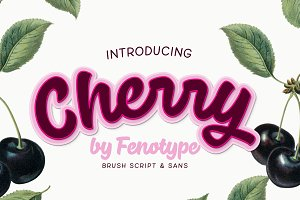 Cherry Font pack intro sale