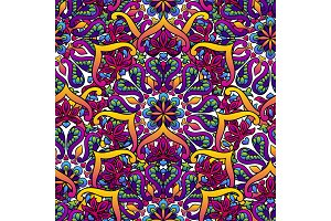 Indian ornamental seamless pattern