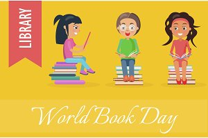 World Book Day at Library Poster