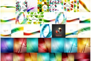 Large set of geometric backgrounds
