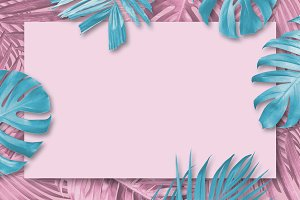 Summer tropical leaves background