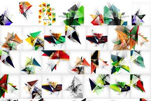Modern abstract backgrounds set