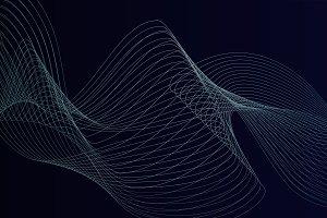 Data visualization dynamic wave