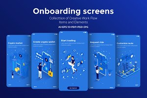 15 App Screens various topics