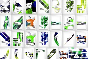 Great abstract backgrounds set