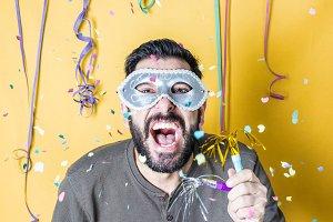 Man celebrating Carnival