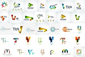 Modern corporate logos collection