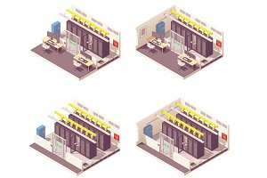 Isometric data center interior
