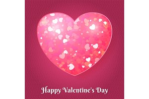 Valentines day greeting card with
