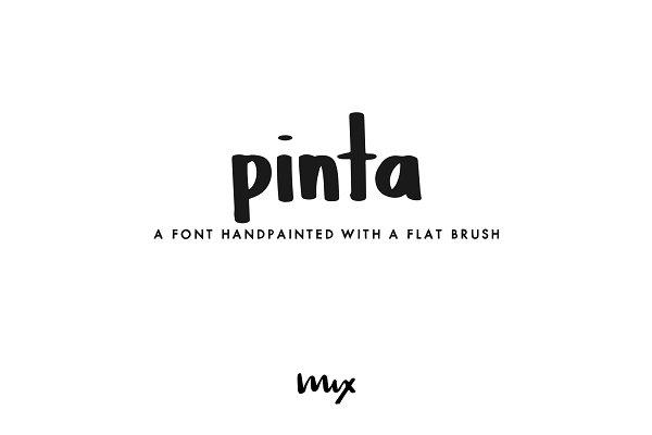 Pinta — A Handpainted Font
