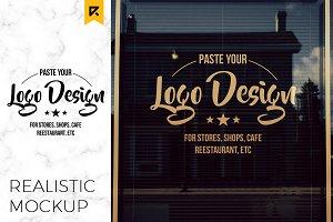 Storefront / Window Logo Mockup