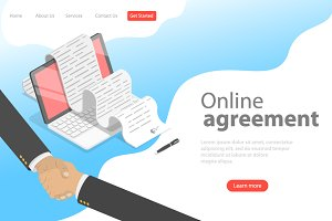 Landing page template of agreement