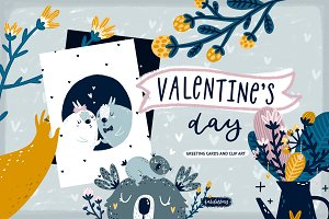 Valentine's Day Cards & Clip art