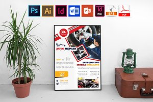 Poster | Car Auto Repair Service V-1
