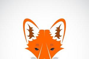Vector of a fox face design. Animal.