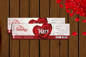 Valentines Day Party Ticket -V01