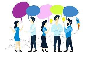 People team conversation vector
