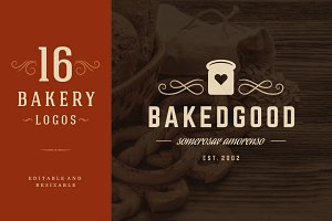 16 Bakery Logotypes and Badges