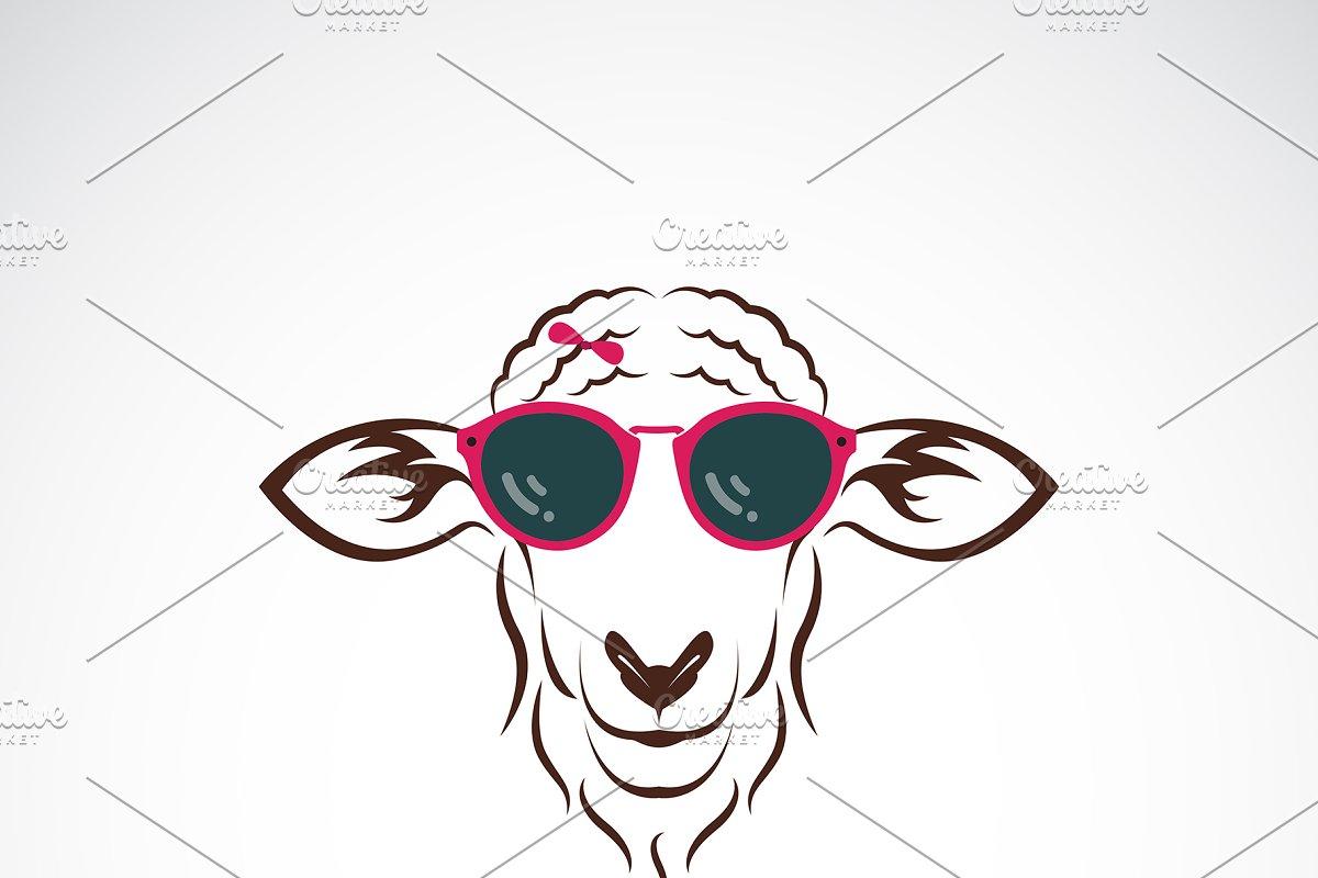 2595b999729 Vector of sheep wearing sunglasses. ~ Icons ~ Creative Market