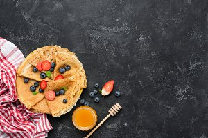 Tasty homemade crepes