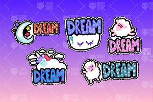 Dreaming Nice Symbols Set
