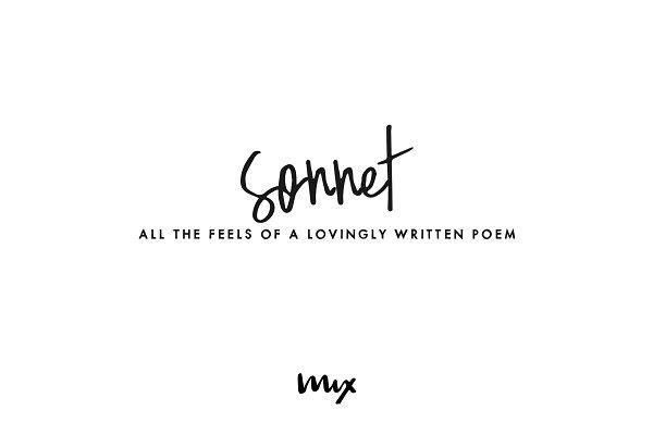 Sonnet — A Handwritten Semi-Script