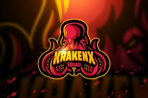 Krakenx - Mascot & Esport Logo