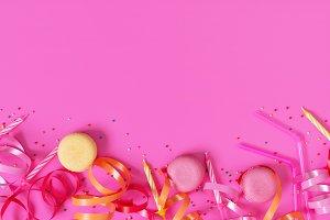 Bright festive pink background