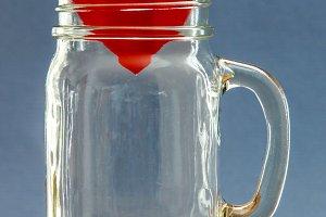Paper heart in jar 2