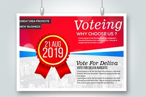 Voting Psd Flyer Templates