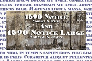 1890 Notice Set OTF