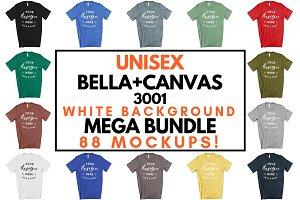 Male Bella Canvas 3001 Mockup Bundle