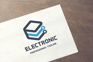Letter E - Electronic Logo