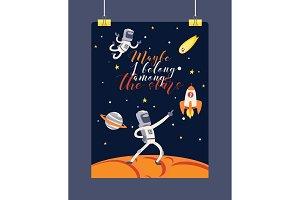 Astronaut vector cosmonaut spaceman