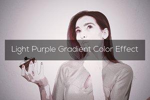Light Purple Gradient Color Effect